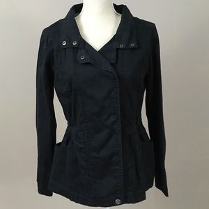 Style & Co Black Button Up Utility Jacket